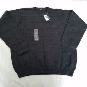 Izod Gray Textured Crewneck Sweater
